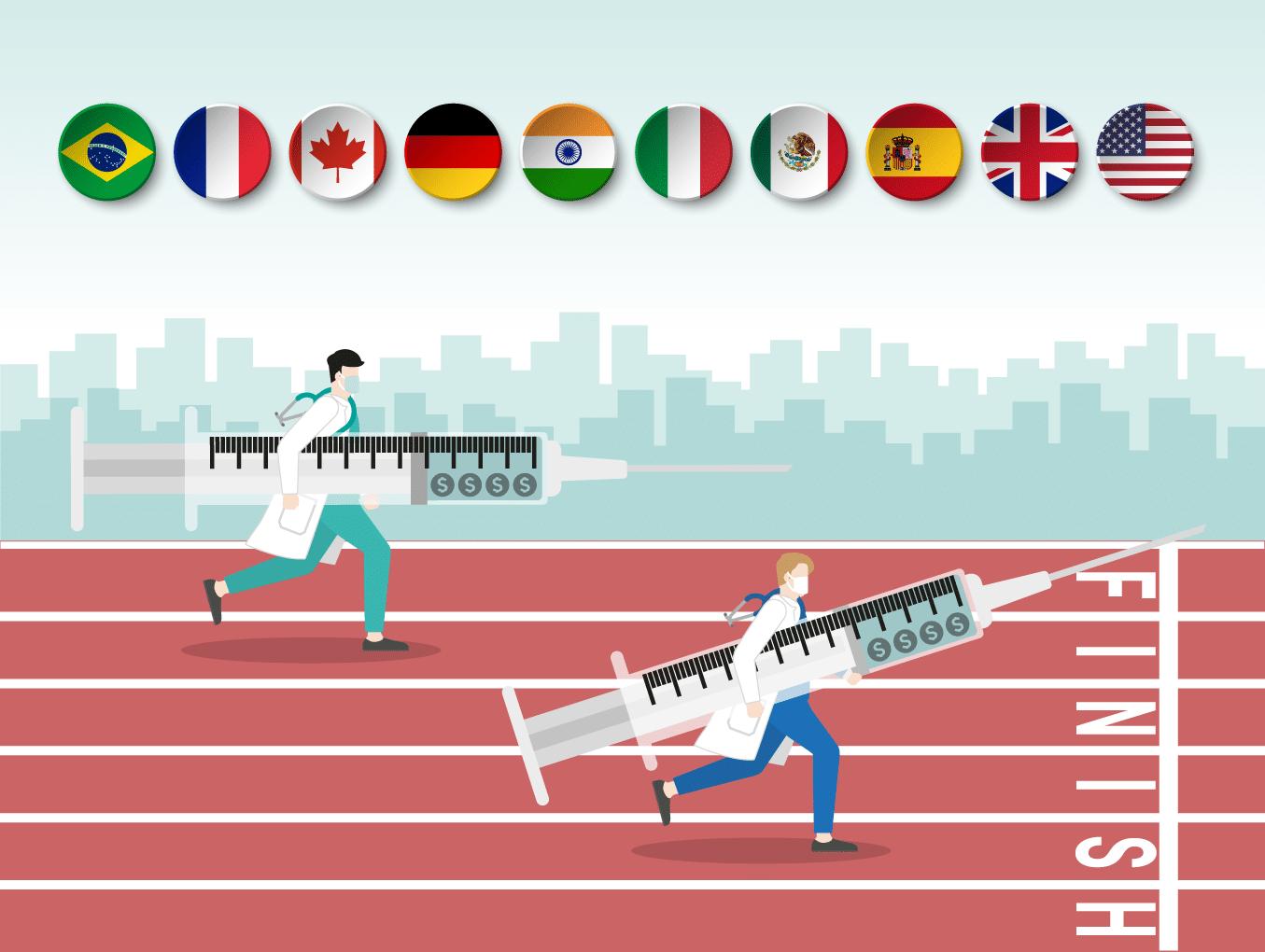 O Brasil na corrida para vencer a pandemia